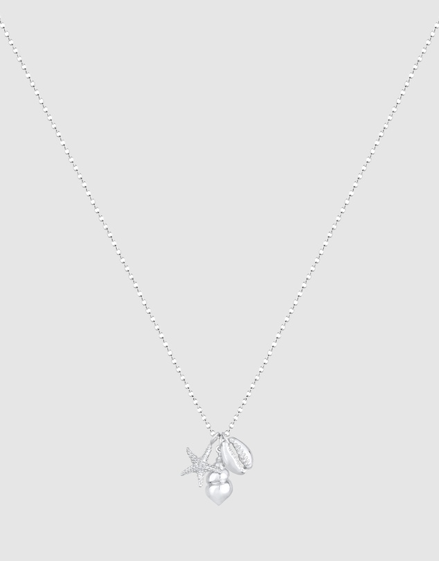 Women Necklace Starfish Shell Pendant Sea Beach Summer Trend in 925 Sterling Silver