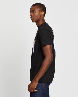 Huf Quake USA SS Tee - T-Shirts & Singlets (Black)