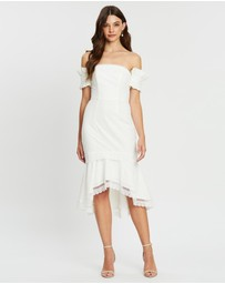 Bariano - Candace Off-Shoulder Lace Trumpet Dress