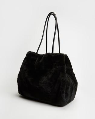 Kate Spade Everything Faux Fur Large Tote - Bags (Black)