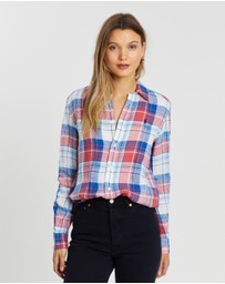 Polo Ralph Lauren - Relaxed Long Sleeve Linen Plaid Shirt
