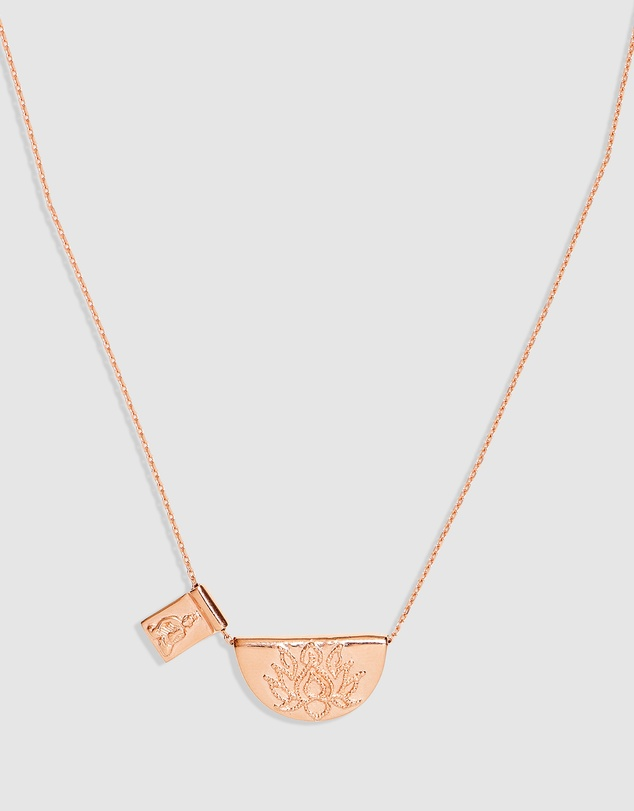 By Charlotte - Lotus Little Buddha Short Necklace