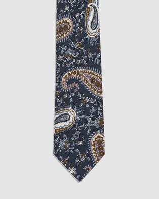 Buckle Vintage Tie & Pocket Square Set - Ties (Paisley)