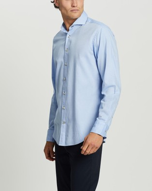 3 Wise Men The Five Fields Tailored Shirt - Shirts & Polos (Light Blue)