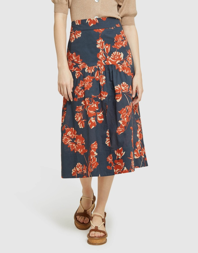 Oxford - Karlina Tropical Print Skirt