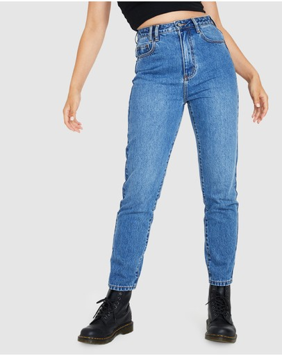 Insight Callee Mom Jeans Blue