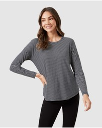 French Connection - Stripe Long Sleeve T Shirt