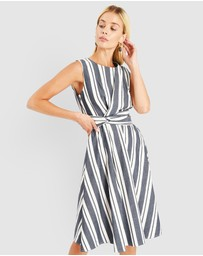 Forcast - Heidi Sleeveless Stripe Dress