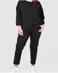 Love Your Wardrobe - Ankle Grazer Black Stretch Jeans
