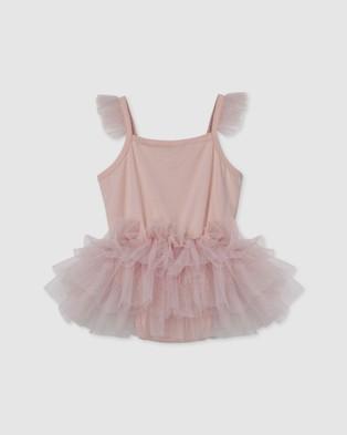 Designer Kidz - Samantha Ballerina Romper Rompers (Tea Rose)