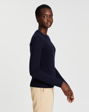 Theory Crew Neck Cashmere Pullover - Jumpers & Cardigans (Navy)