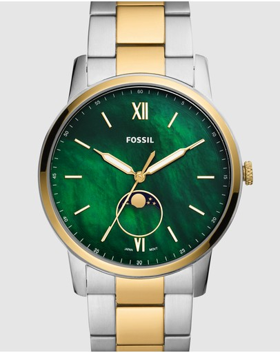 Fossil - The Minimalist Moonphase Two Tone Analogue Watch