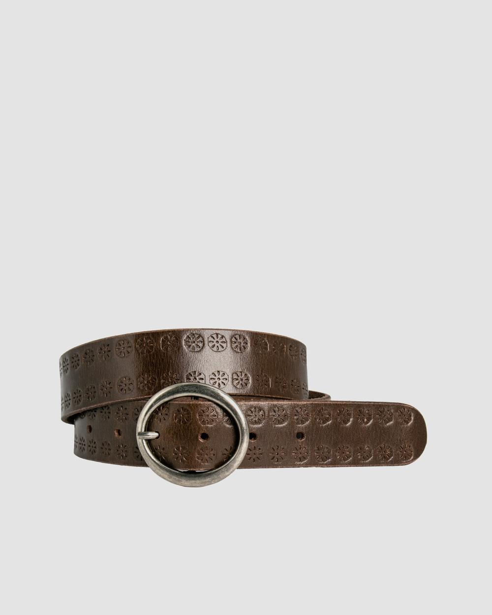 Loop Leather Co Flower Drum Belts Chocolate