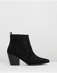 Therapy - Carson Microsuede Ankle Boots