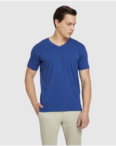 Oxford - Peter Stretch V-neck T-shirt
