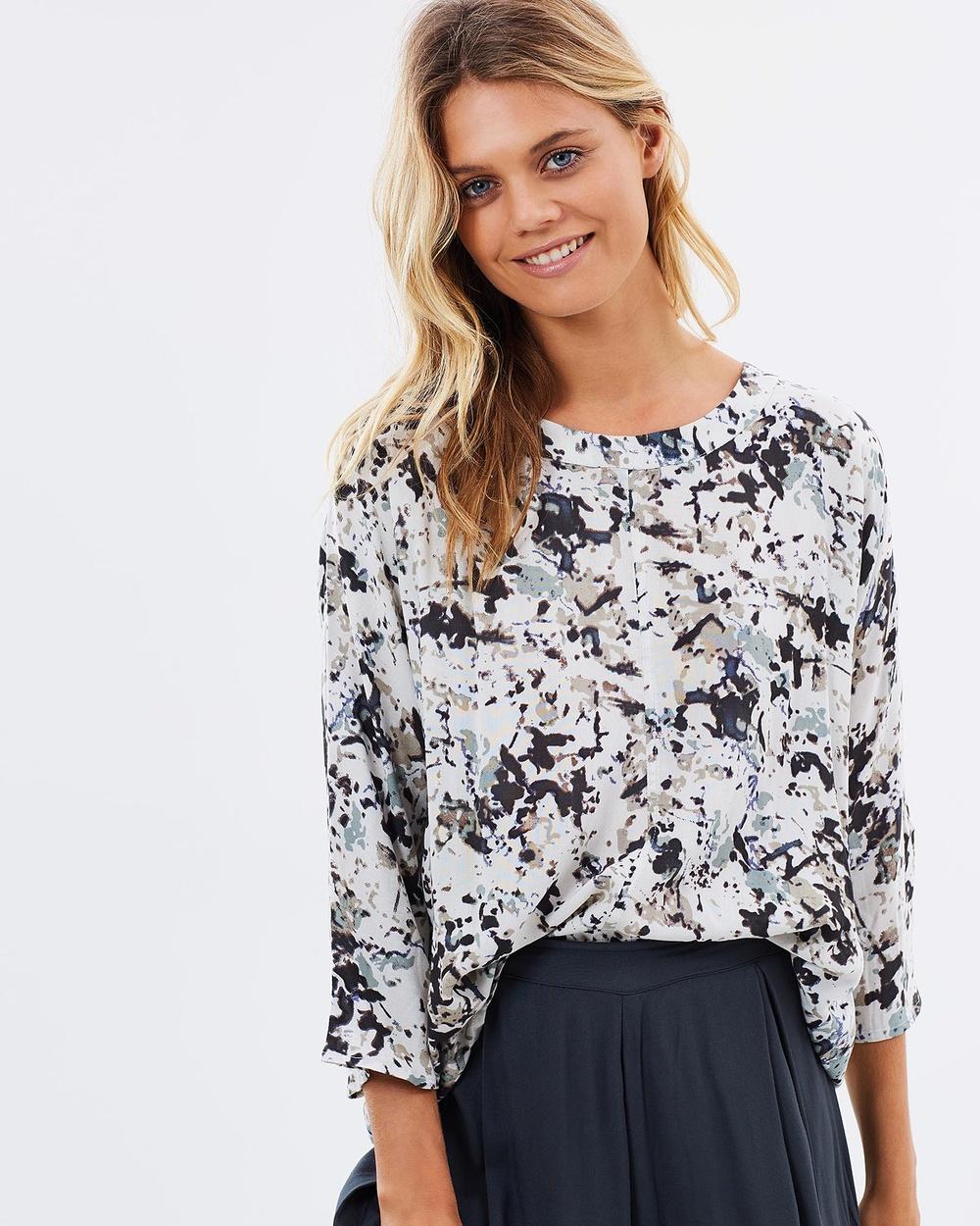 Kaja Clothing Ellie Top Tops Leaf Print Ellie Top