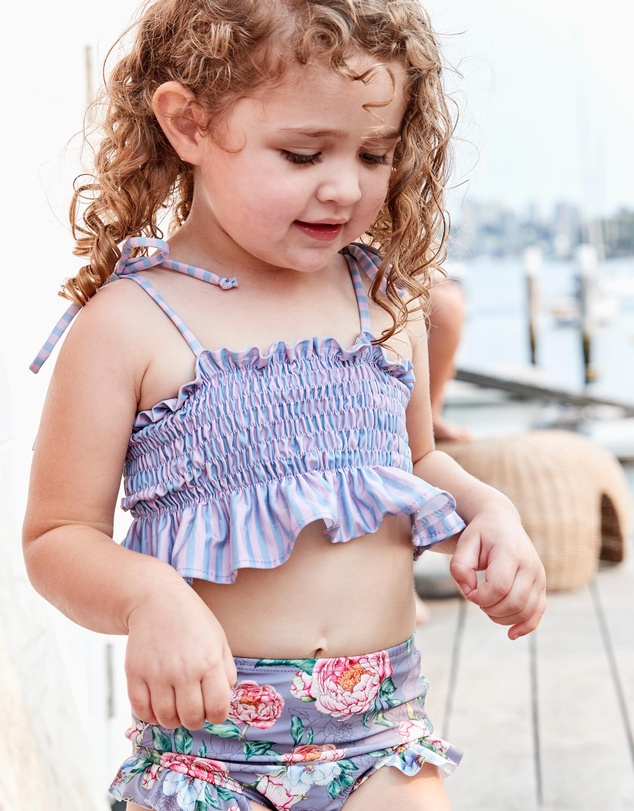 Olga Valentine - Ruching Bikini Set - Kids