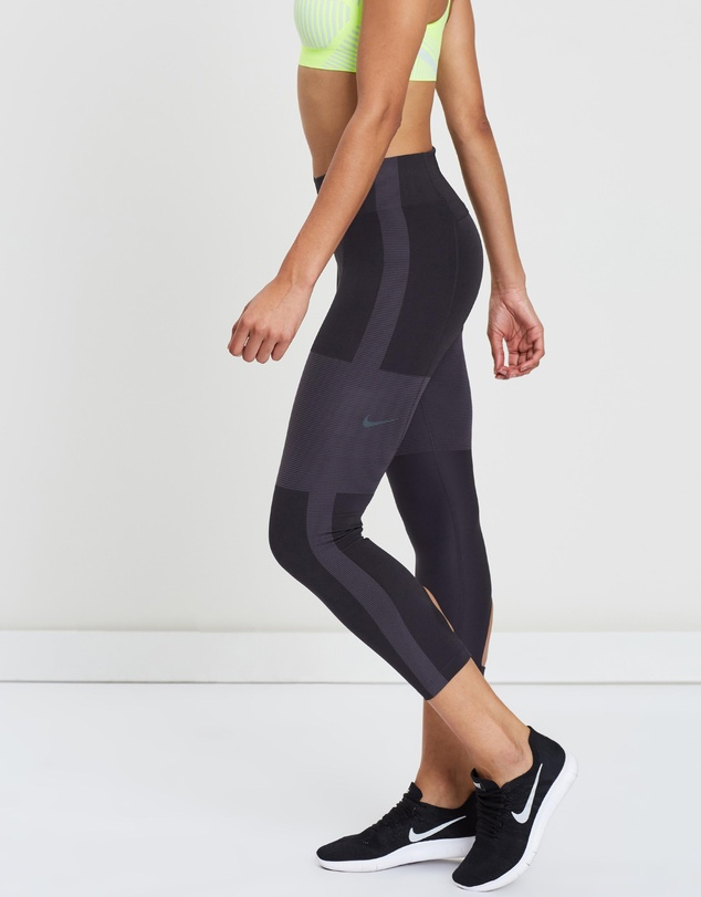 3504835724 Tech Pack Running Crop Tights - Women's