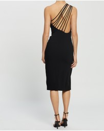 BY JOHNNY. - Sara Slice Asymmetric Midi Dress