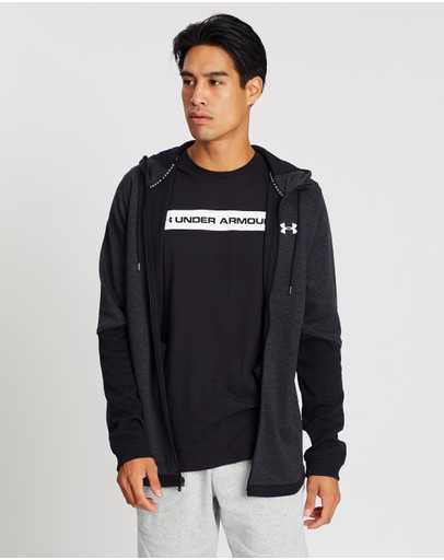 Under Armour Double Knit Full-zip Hoodie Black & Onyx White