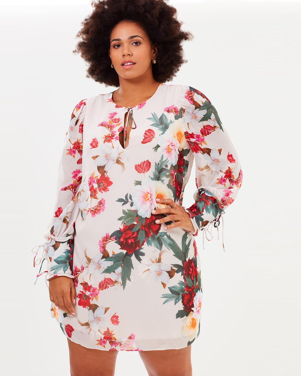 Cooper St CS CURVY Rosa Shift Dress Printed Dresses Print CS CURVY Rosa Shift Dress