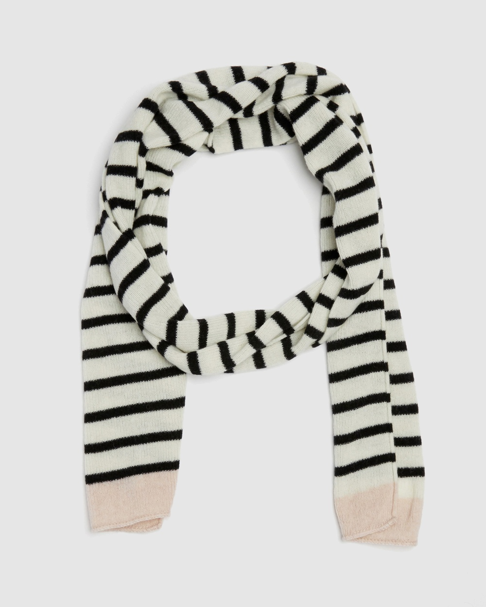 Kate & Confusion Rugby Stripe Scarf Scarves Gloves Ivory
