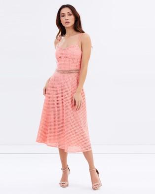 Honey and Beau – Emmeline Flare Dress – Dresses (Peach)