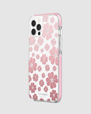 Kate Spade Kate Spade New York Defensive Hardshell Case for iPhone 12 Pro Max - Tech Accessories (Pink)