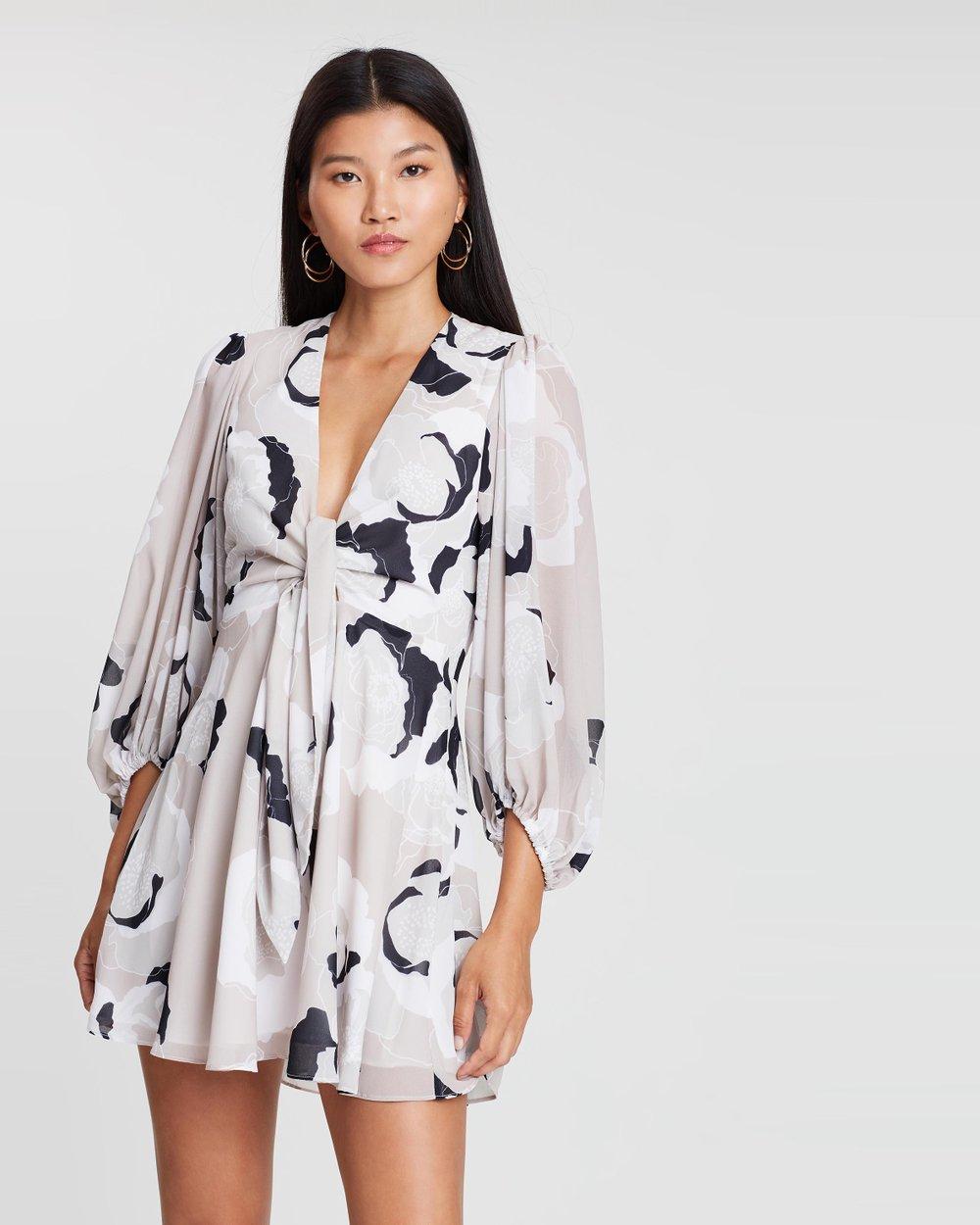 ba530588a941 Tie Front Mini Dress by Shona Joy Online | THE ICONIC | Australia