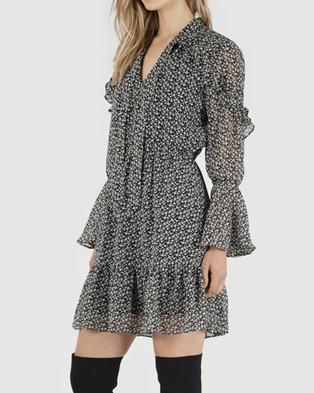 Amelius Nissa Print Dress - Printed Dresses (Black)