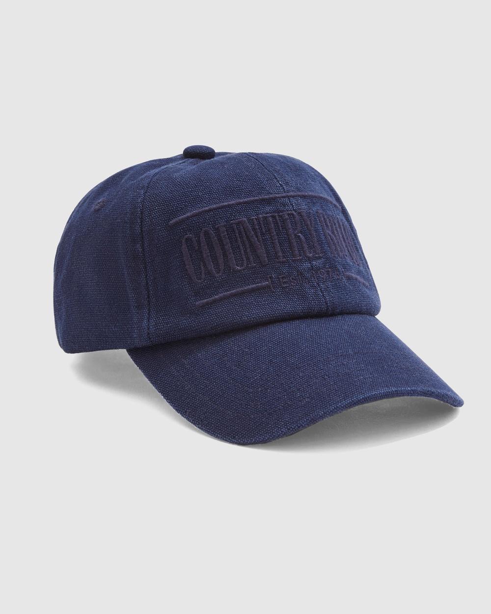 Country Road Heritage Cap Headwear navy