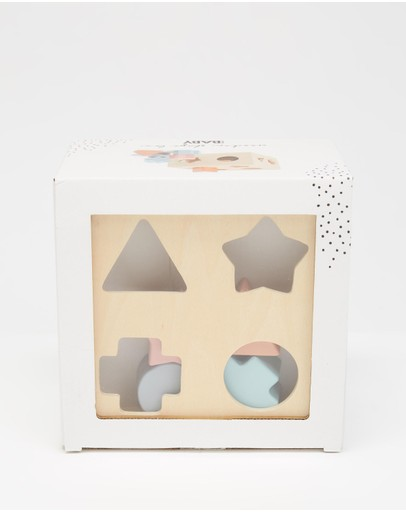 Cotton On Baby - Wooden Puzzle Shape Box - Babies