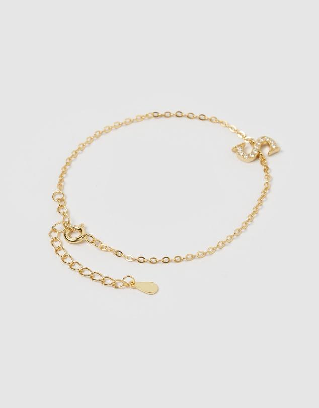 Women Crystal Letter S Bracelet