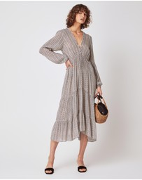 Auguste The Label - Maze Dunes Sleeved Midi Dress
