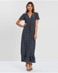 Atmos&Here - Wrap Front Maxi Dress