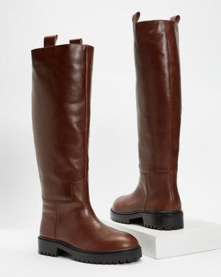 Alias Mae - Maine Knee-High Boots (Choc Burnished)