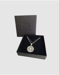 Kuzzoi - Necklace Layer Heirloom Compass in 925 Sterling Silver
