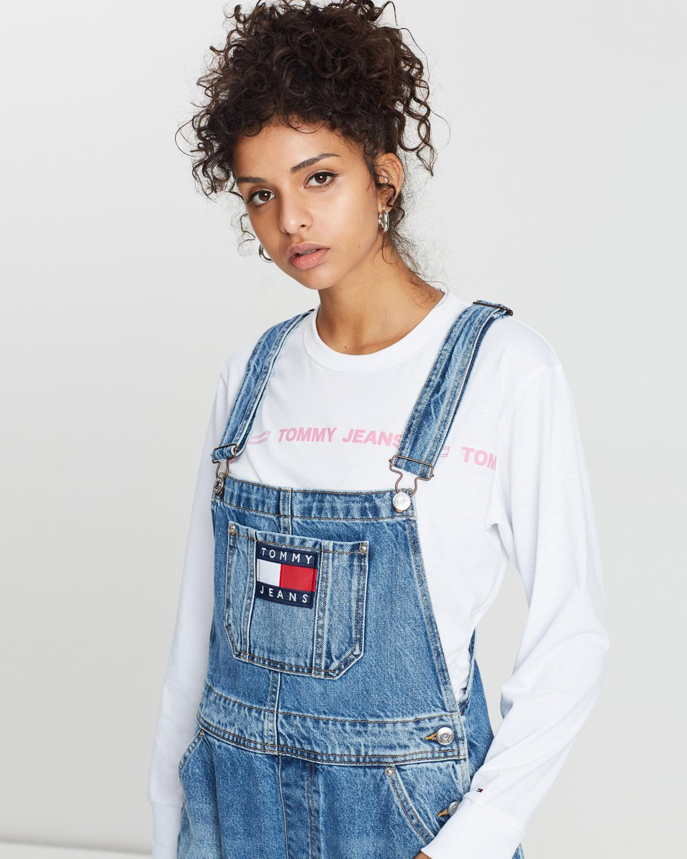 20edb5690 Faded Regular Denim Dungarees by Tommy Jeans Online | THE ICONIC | Australia