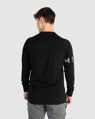 Muscle Republic Creed Long Sleeve Tee - T-Shirts & Singlets (Black)