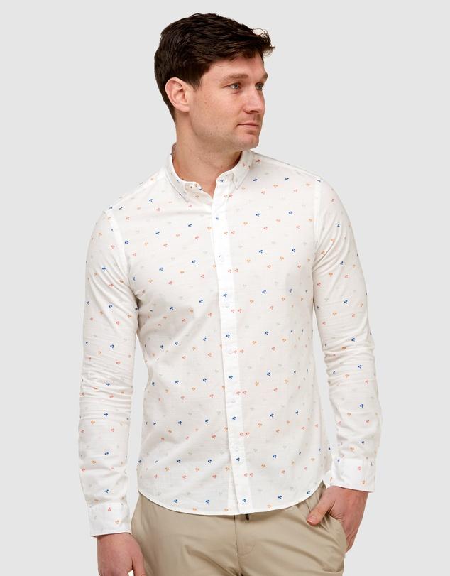 Men Palm Print Casual Shirt