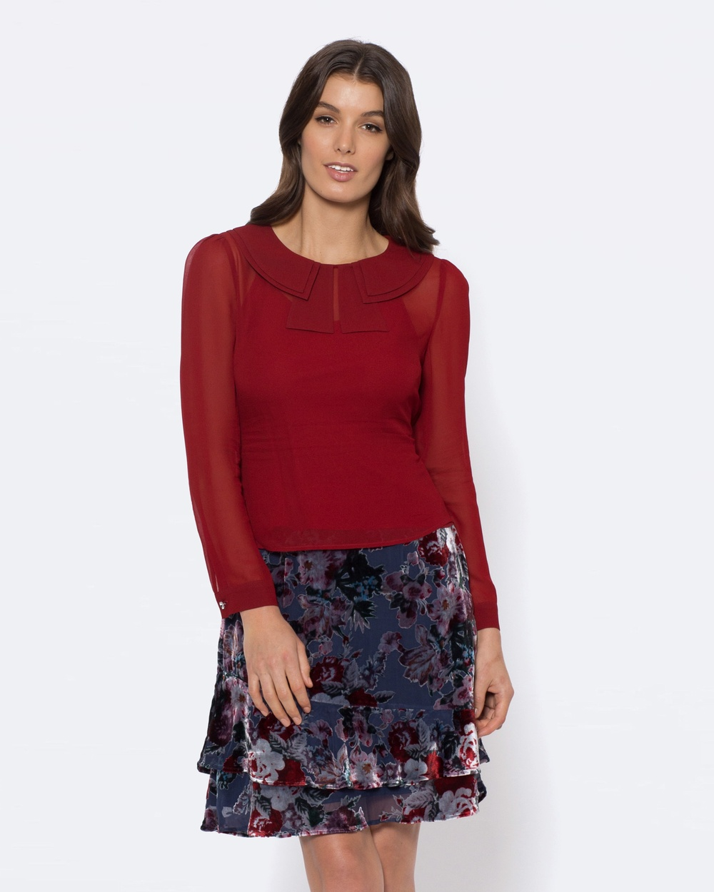 Alannah Hill Afterglow Top Tops Red Afterglow Top