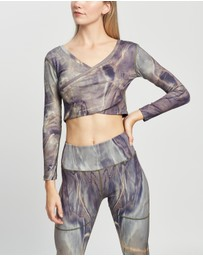 Nubyen - Carbon 2 Cropped Wrap Top