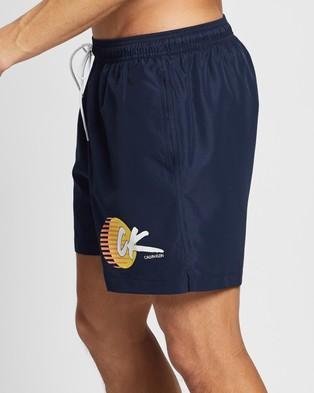Calvin Klein CK Wave Medium Drawstring Shorts - Swimwear (Black Iris)