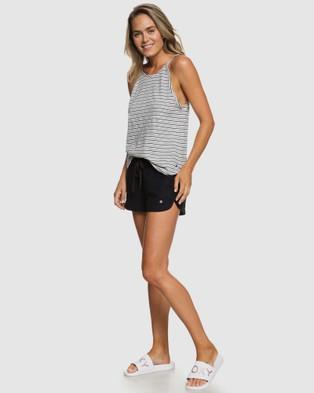 Roxy Womens Impossible Love Linen Shorts - Chino Shorts (True Black)