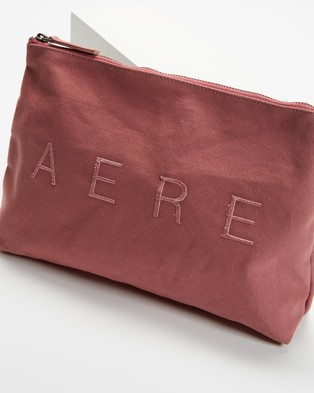 AERE Organic Canvas Pouch Bags & Tools Pink