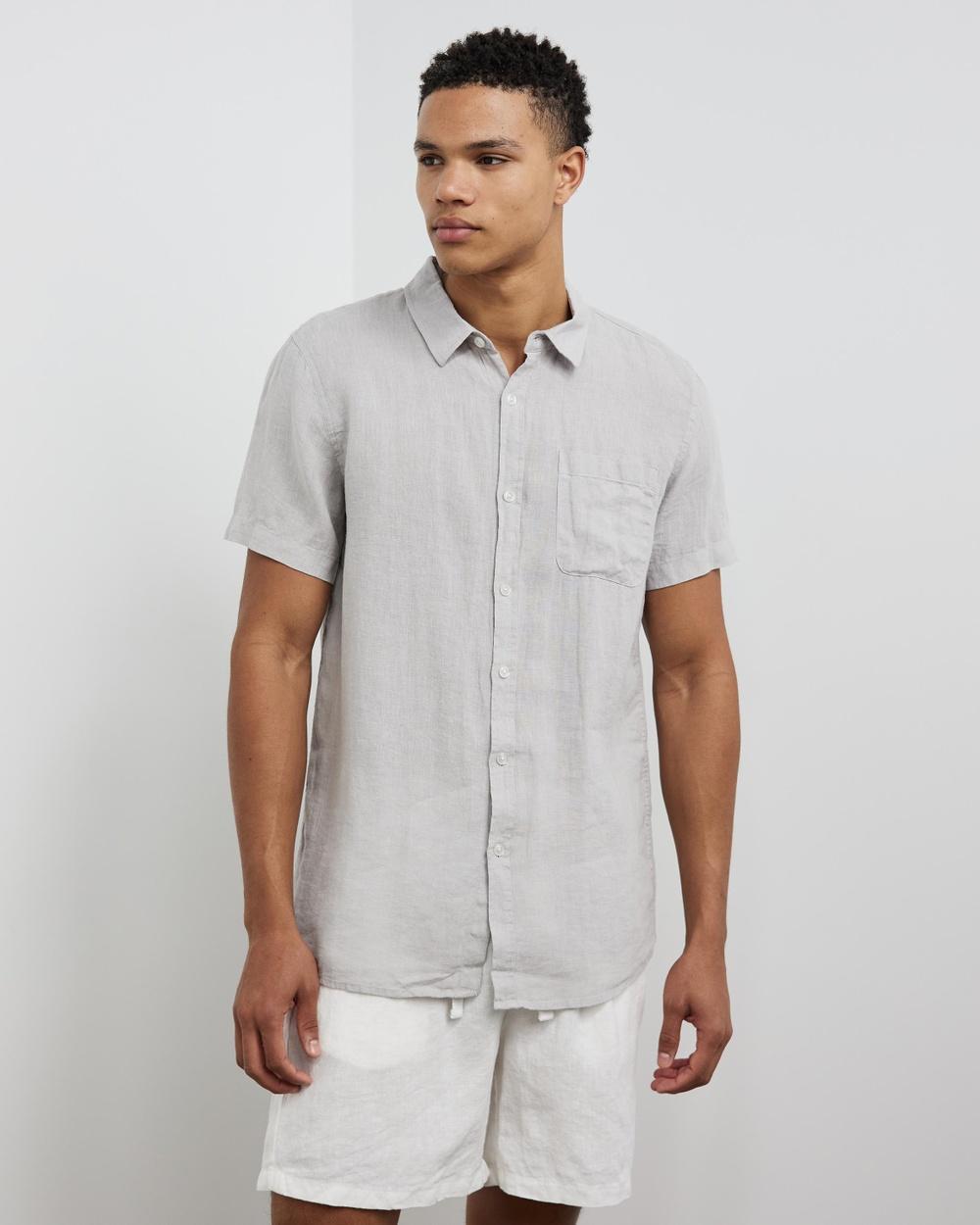AERE SS Linen Shirt Casual shirts Grey