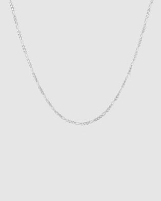 Kuzzoi Necklace Figaro Basic Trend in 925 Sterling Silver - Jewellery (Silver)
