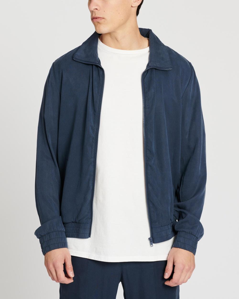 AERE Zip Thru Club Jacket Coats & Jackets Navy