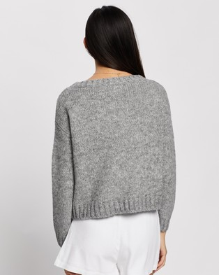 Tigerlily Arles Knit - Jumpers & Cardigans (Grey Marle)