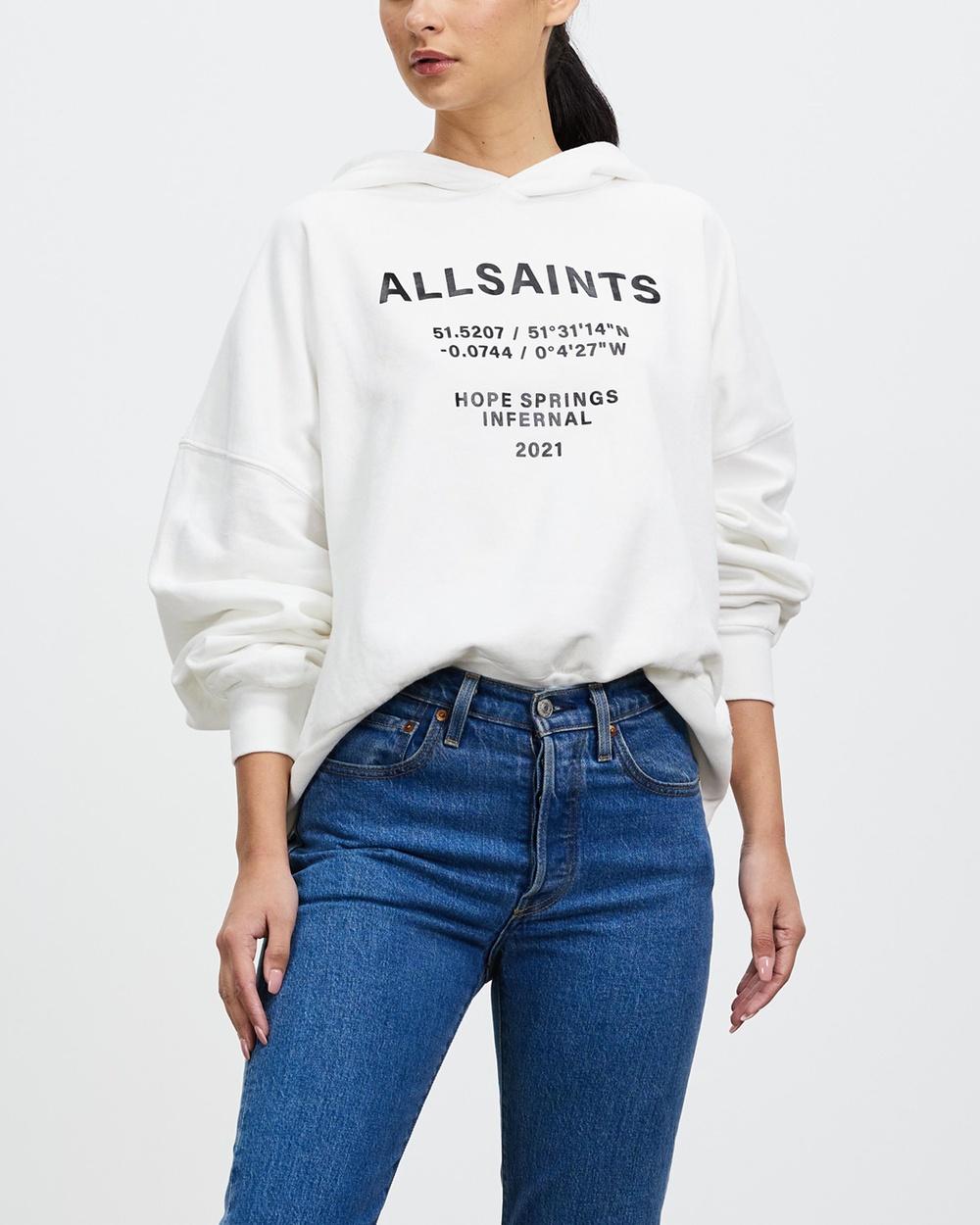 AllSaints Co Ordinates Talie Hoodie Hoodies Optic White Co-Ordinates